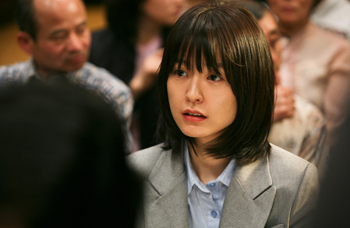영화 도가니 스틸컷 중 배우 정유미 사진