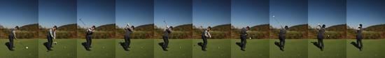골프 타구 연속 사진