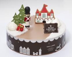 뚜레쥬르의 크리스마스 케이크 '윈터 원더랜드를 지키는 호두까기 인형' 사진