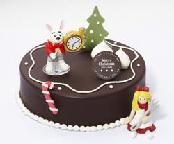 뚜레쥬르의 크리스마스 케이크 '엘리스가 콕 찍은 초콜릿 케이크' 사진