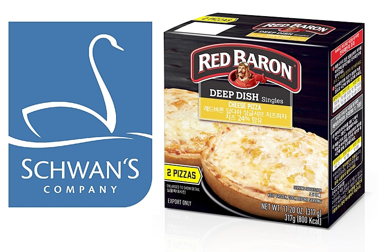 Red Baron, Schwan's Company's iconic frozen pizza brand.'