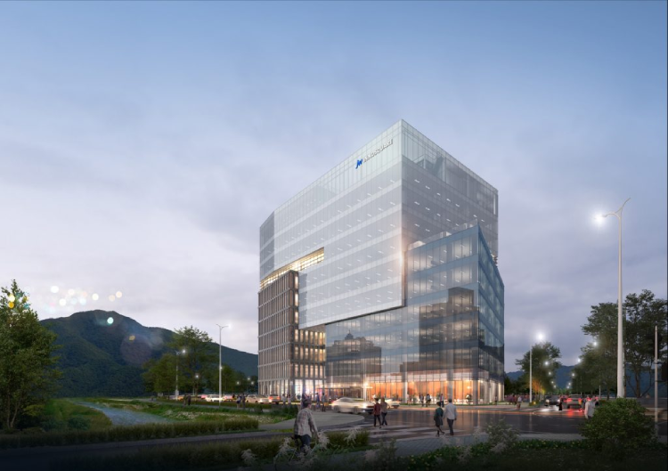 A perspective plan of JW Group's new building in Gwacheon, Gyeonggi-do